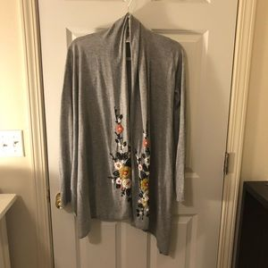 Anthropologie embroidered cardigan